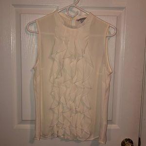 H&M ruffle front sleeveless blouse